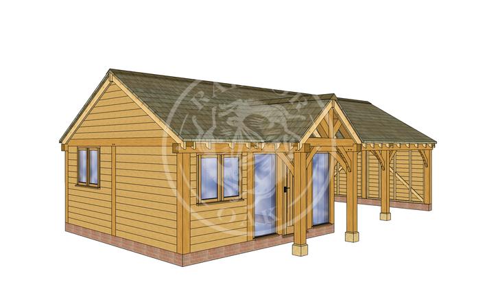 Oak Framed Annexe | Radnor Oak | ANX-WA3001 | LHE
