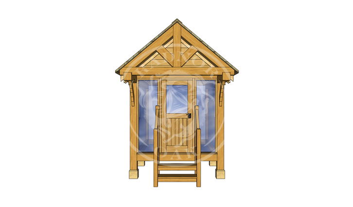Oak Framed Summerhouse | Radnor Oak | GC001 | FRONT