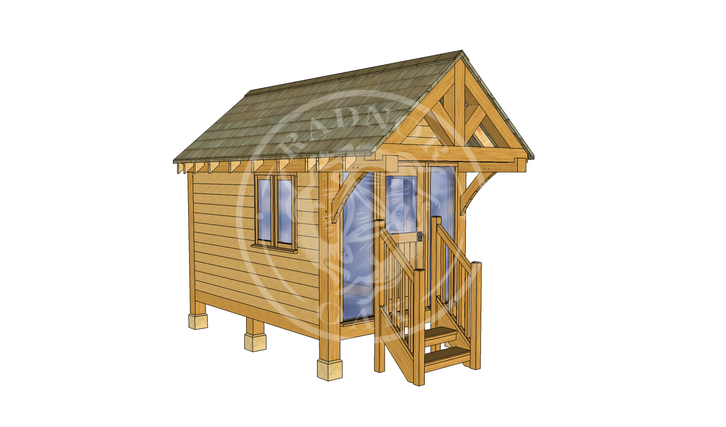 Oak Framed Summerhouse | Radnor Oak | GC001 | LHE