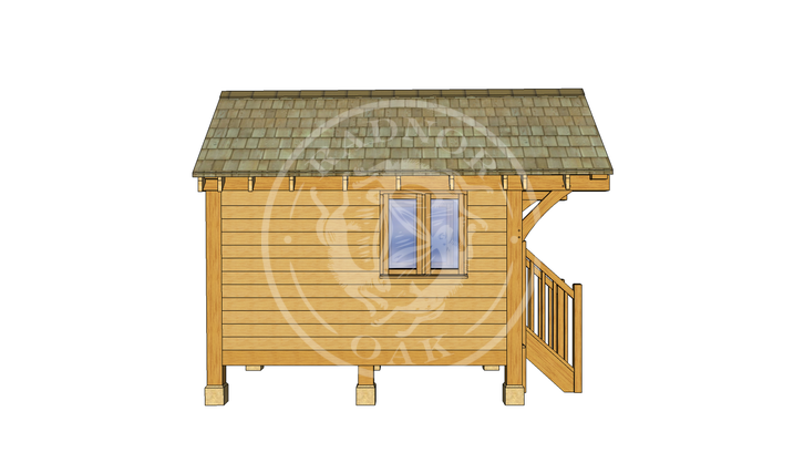 Oak Framed Summerhouse | Radnor Oak | GC001 | LEFT
