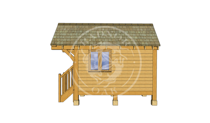 Oak Framed Summerhouse | Radnor Oak | GC001 | RIGHT