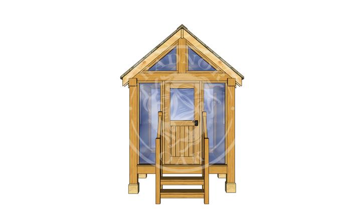 Oak Framed Summerhouse | Radnor Oak | GC002 | FRONT