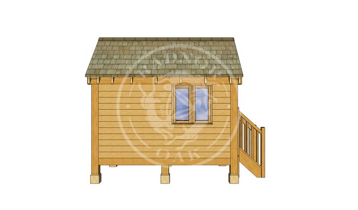 Oak Framed Summerhouse | Radnor Oak | GC002 | LEFT