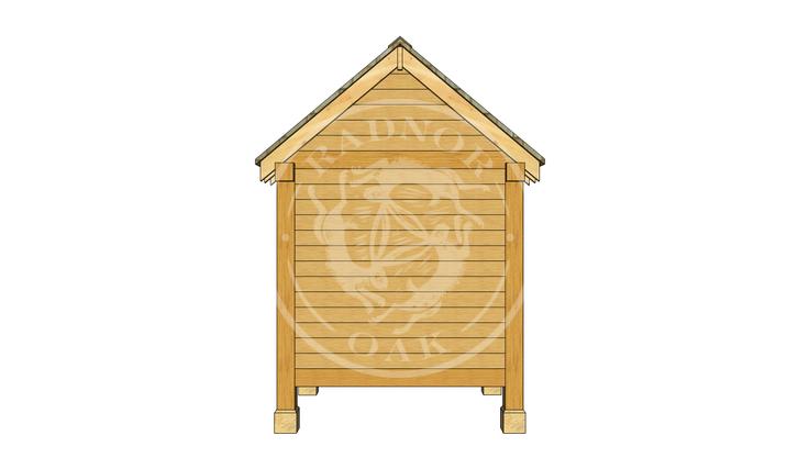 Oak Framed Summerhouse | Radnor Oak | GC002 | BACK