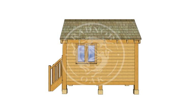 Oak Framed Summerhouse | Radnor Oak | GC002 | RIGHT