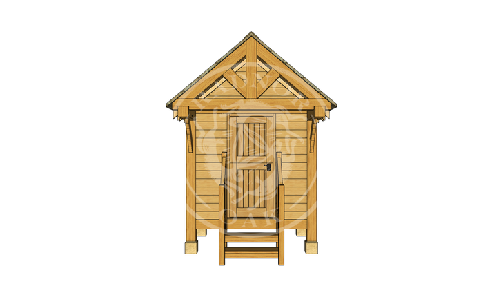 Oak Framed Summerhouse | Radnor Oak | GC004 | FRONT