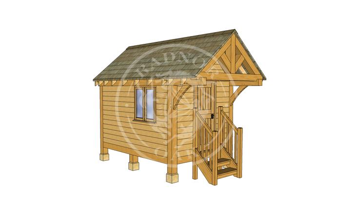 Oak Framed Summerhouse | Radnor Oak | GC004 | LHE