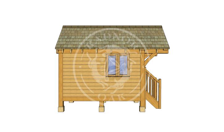 Oak Framed Summerhouse | Radnor Oak | GC004 | LEFT