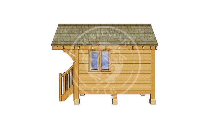 Oak Framed Summerhouse | Radnor Oak | GC004 | RIGHT