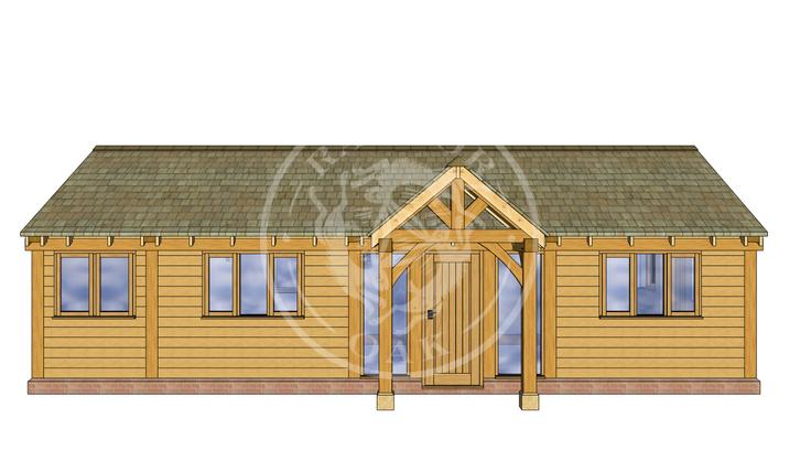 Oak Framed Annexe | Radnor Oak | Our Showsite Annexe | FRONT