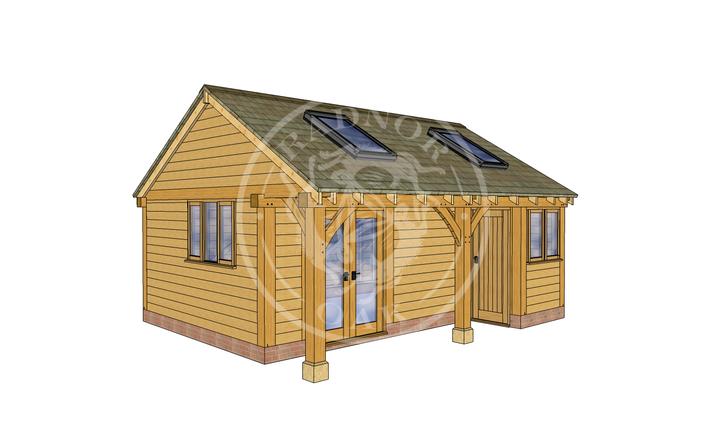 Oak Framed Summer House | Radnor Oak | SHL001 | LHE