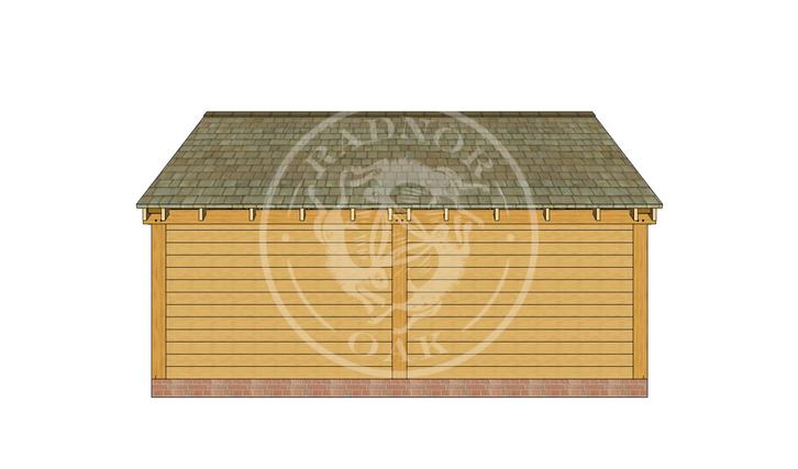Oak Framed Summer House | Radnor Oak | SHL001 | BACK