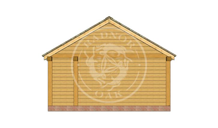 Oak Framed Summer House | Radnor Oak | SHL001 | RIGHT