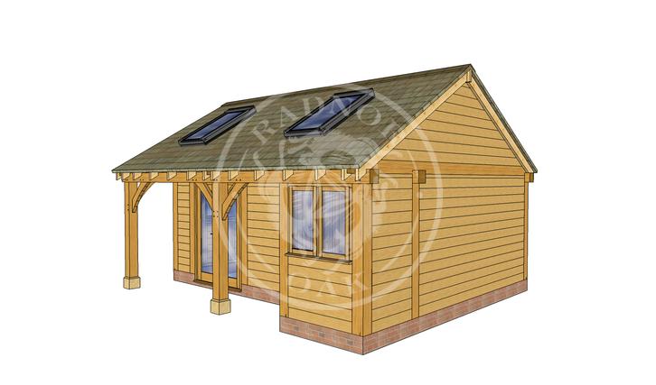 Oak Framed Summer House | Radnor Oak | SHL001 | RHE