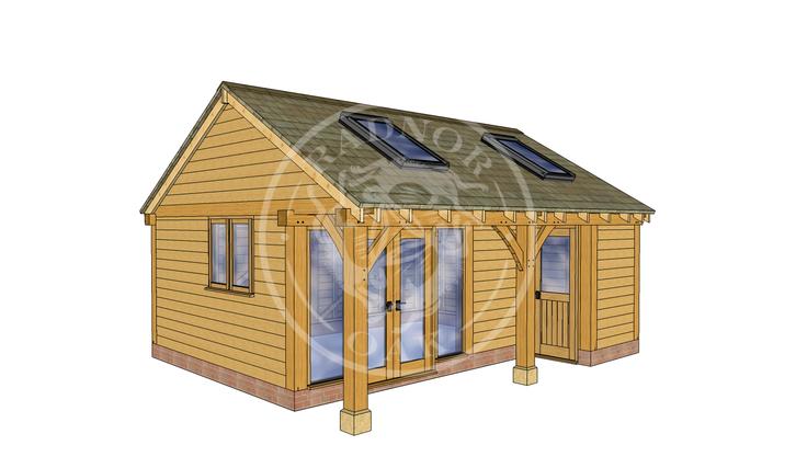 Oak Framed Summer House | Radnor Oak | SHL002 | LHE