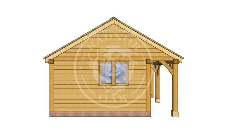 Oak Framed Summer House | Radnor Oak | SHL002 | LEFT