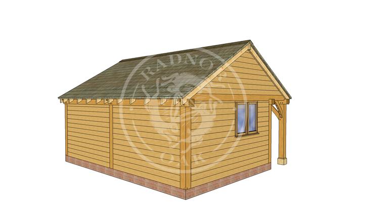 Oak Framed Summer House | Radnor Oak | SHL002 | LHB