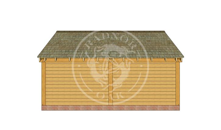 Oak Framed Summer House | Radnor Oak | SHL002 | BACK