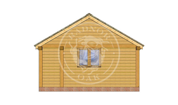 Oak Framed Summer House | Radnor Oak | SHL002 | RIGHT