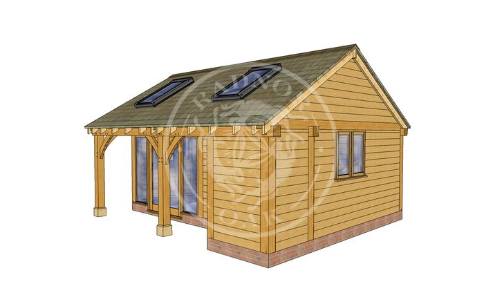 Oak Framed Summer House | Radnor Oak | SHL002 | RHE