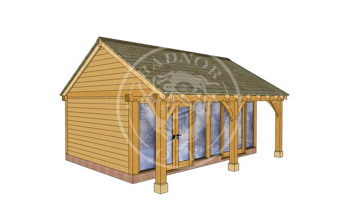 Oak Framed Summer House | Radnor Oak | SHL003 | LHE