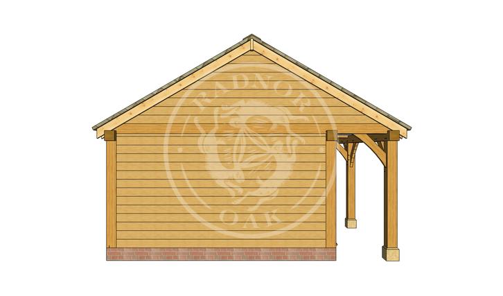 Oak Framed Summer House | Radnor Oak | SHL003 | LEFT