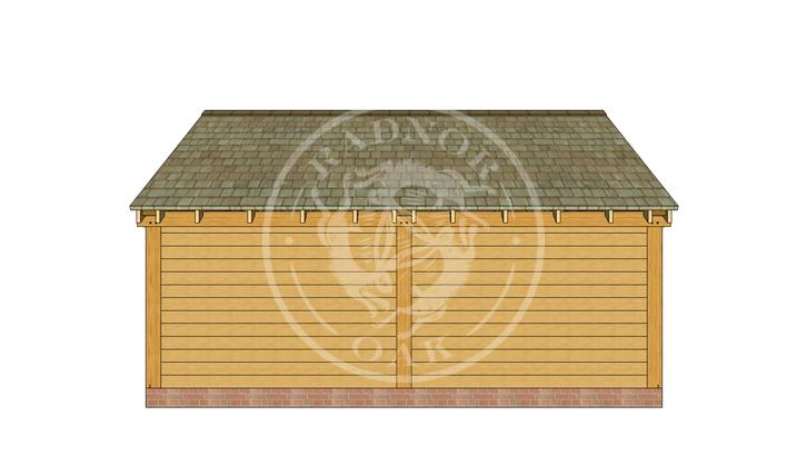 Oak Framed Summer House | Radnor Oak | SHL003 | BACK
