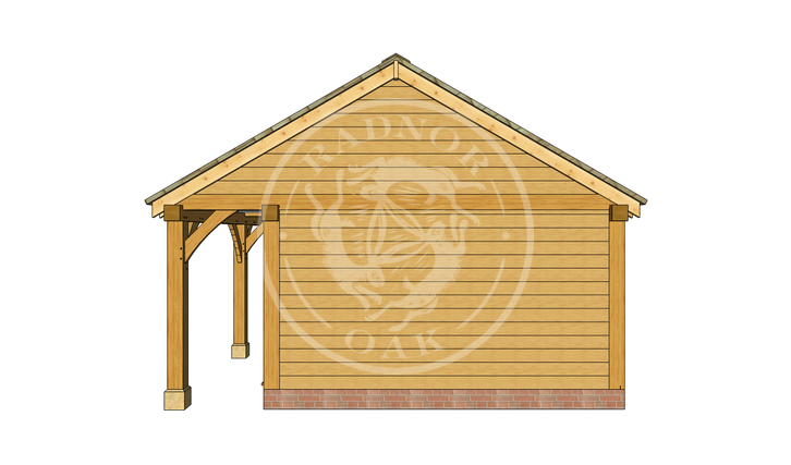 Oak Framed Summer House | Radnor Oak | SHL003 | RIGHT