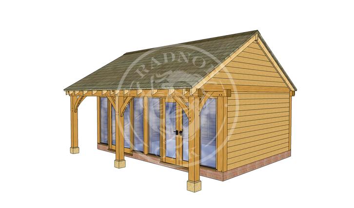 Oak Framed Summer House | Radnor Oak | SHL003 | RHE