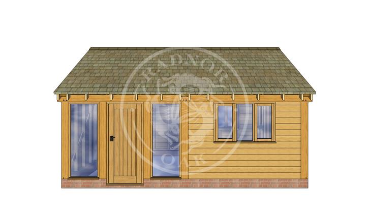 Oak Framed Summer House | Radnor Oak | SHL004 | FRONT