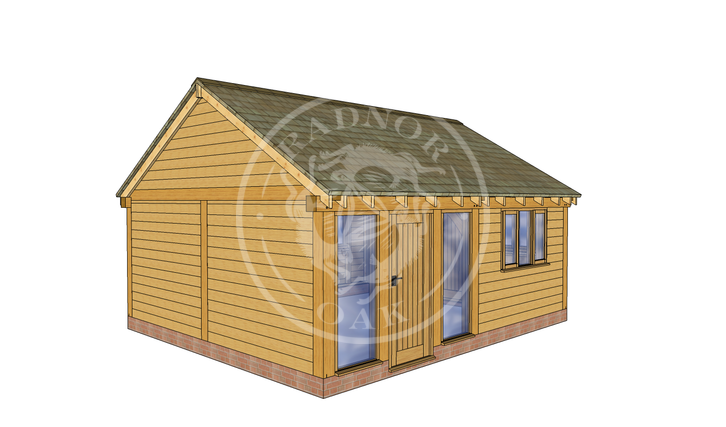 Oak Framed Summer House | Radnor Oak | SHL004 | LHE