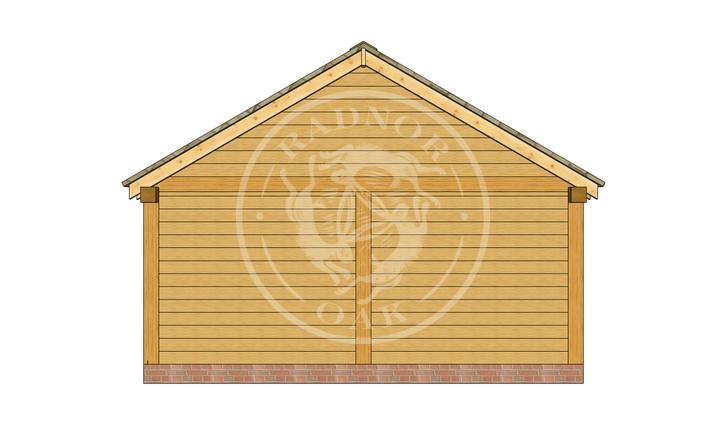 Oak Framed Summer House | Radnor Oak | SHL004 | LEFT