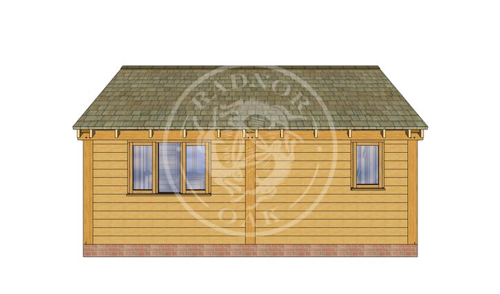 Oak Framed Summer House | Radnor Oak | SHL004 | BACK