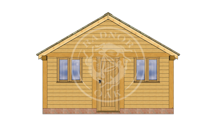 Oak Framed Summer House | Radnor Oak | SHL004 | RIGHT