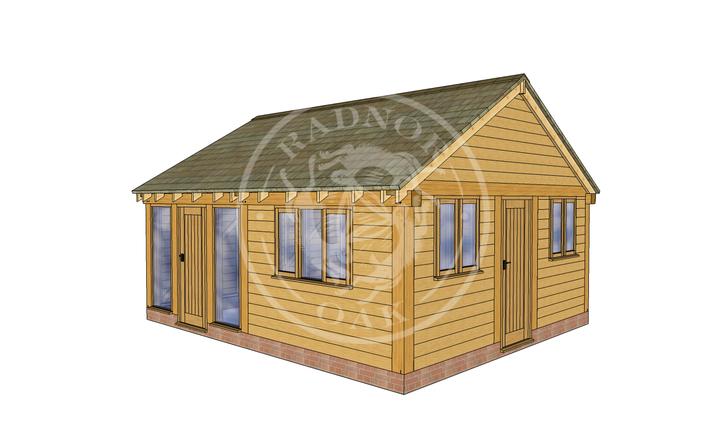 Oak Framed Summer House | Radnor Oak | SHL004 | RHE