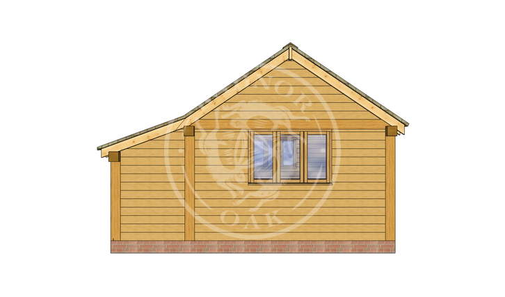 Oak Framed Annexe | Radnor Oak | SHL005 | LEFT