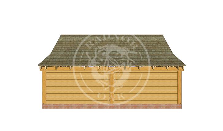 Oak Framed Annexe | Radnor Oak | SHL005 | BACK