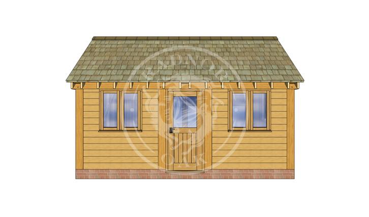 Oak Framed Annexe   Radnor Oak   SHL006   FRONT