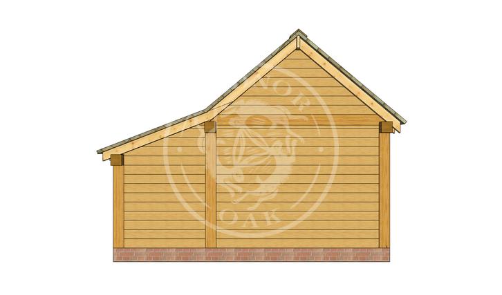Oak Framed Annexe   Radnor Oak   SHL006   LEFT