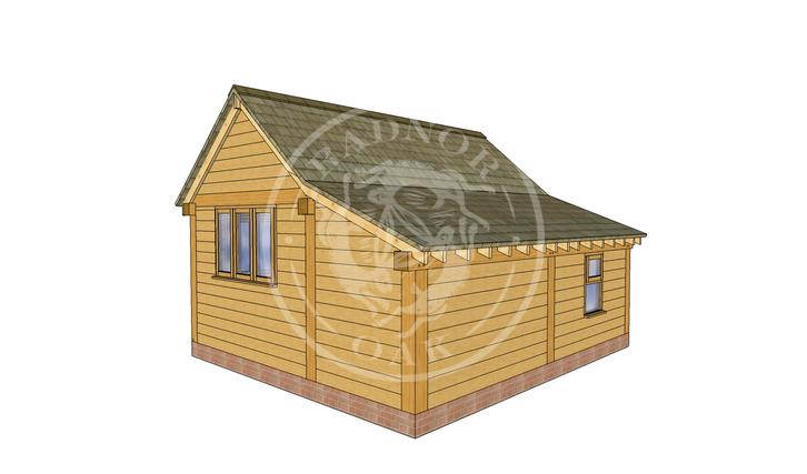 Oak Framed Annexe   Radnor Oak   SHL006   RHB
