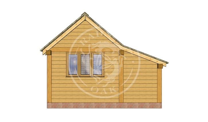 Oak Framed Annexe   Radnor Oak   SHL006   RIGHT