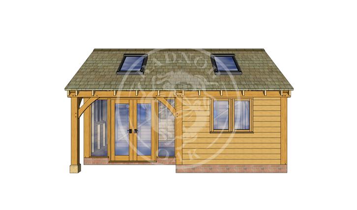 Oak Framed Annexe | Radnor Oak | SHL007 | FRONT