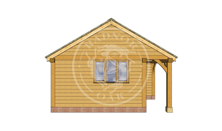 Oak Framed Annexe | Radnor Oak | SHL007 | LEFT