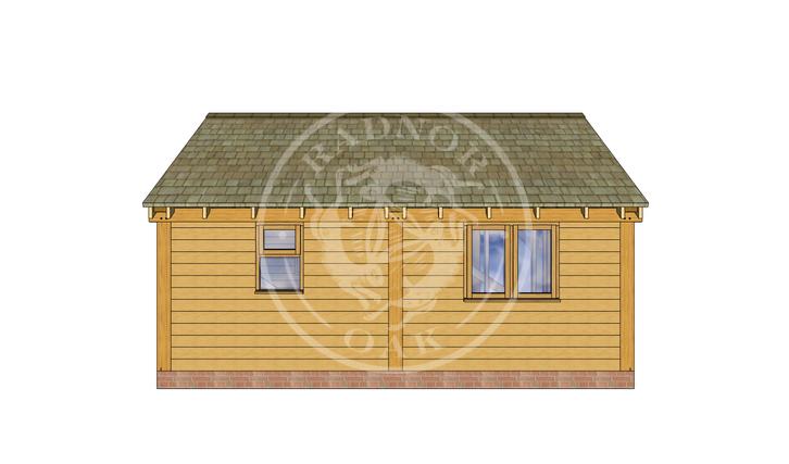 Oak Framed Annexe | Radnor Oak | SHL007 | BACK