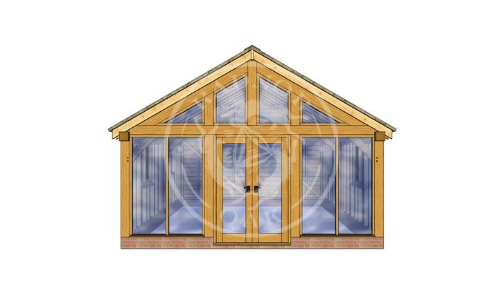 Oak Framed Annexe | Radnor Oak | SHL008 | FRONT