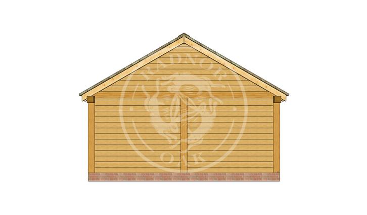 Oak Framed Annexe | Radnor Oak | SHL008 | BACK