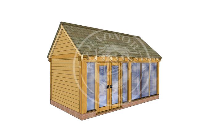 Oak Framed Summer House | Radnor Oak | SHM001 | LHE