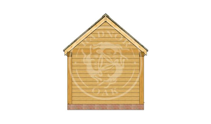 Oak Framed Summer House | Radnor Oak | SHM001 | LEFT
