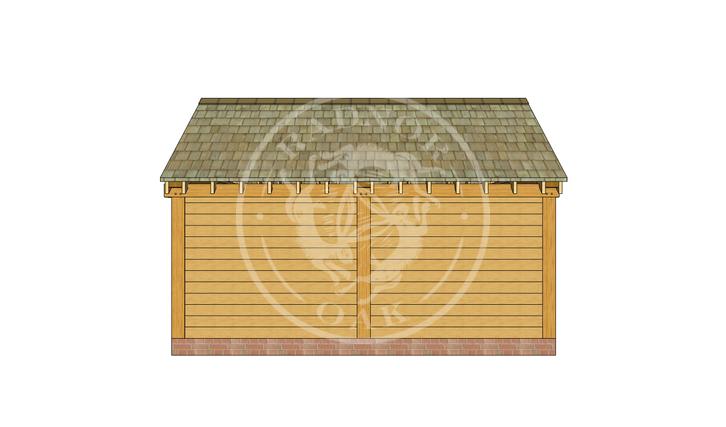 Oak Framed Summer House | Radnor Oak | SHM001 | BACK