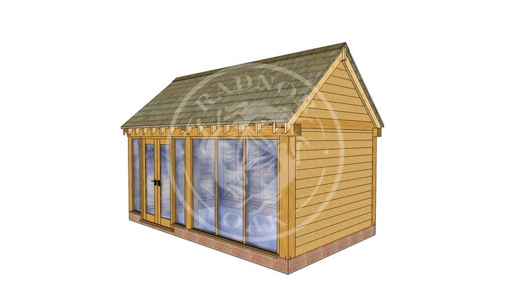 Oak Framed Summer House | Radnor Oak | SHM001 | RHE